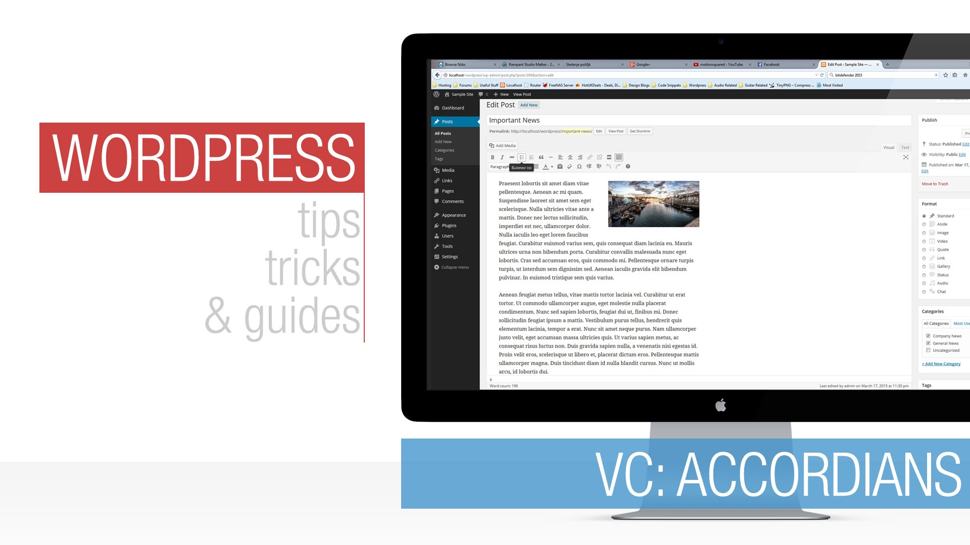 WordPress Tutorial: Visual Composer – Accordian