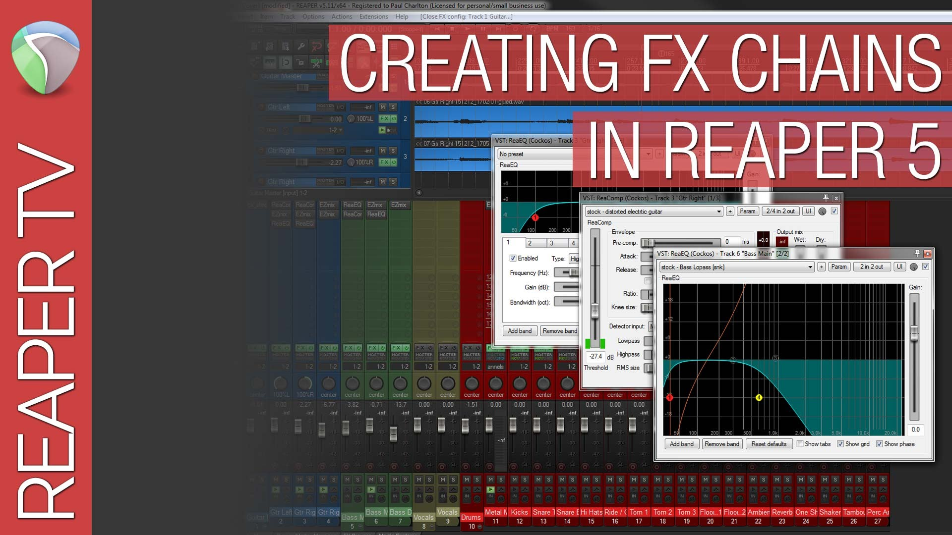 Creating FX Chains in Reaper 5 for Beginners