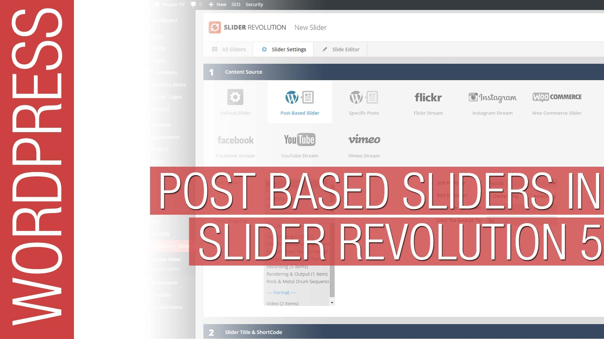 Slider Revolution 5 for WordPress – Post Based Sliders