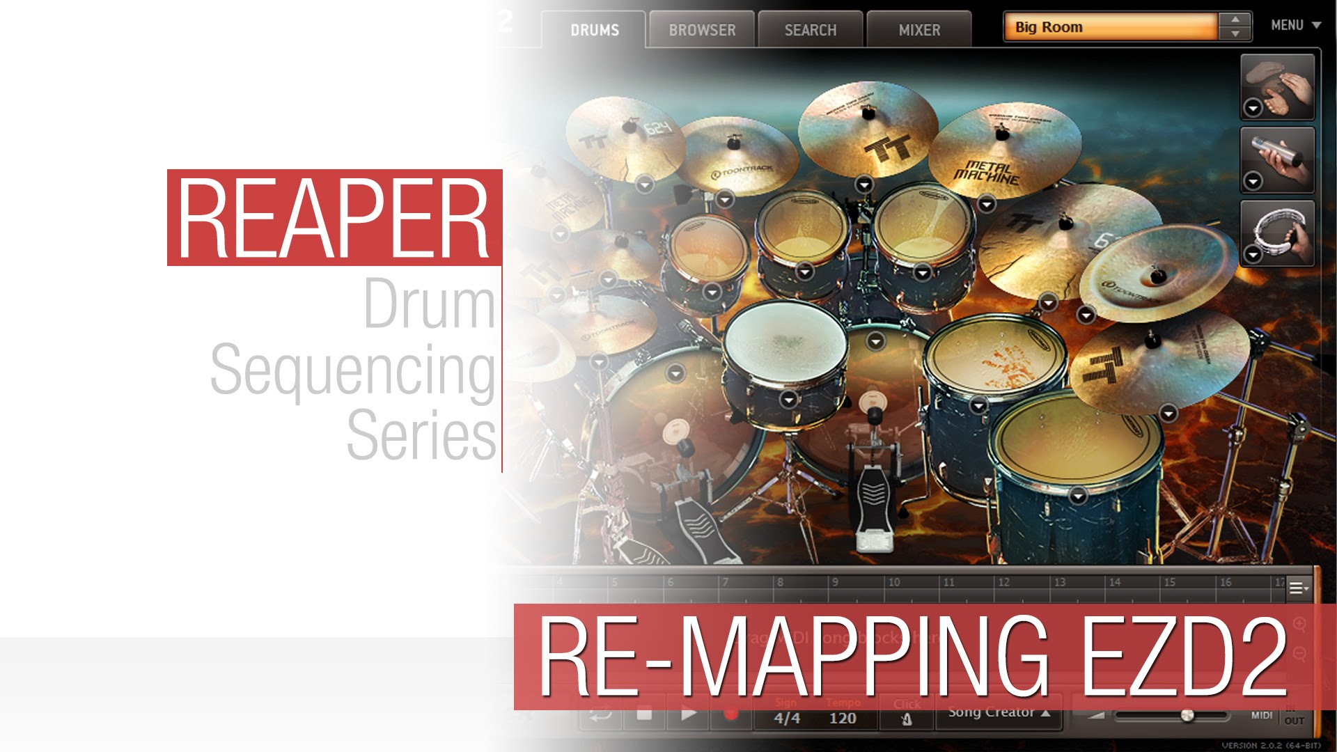 Reaper Tutorial: Re-Mapping EZ Drummer 2's Drums