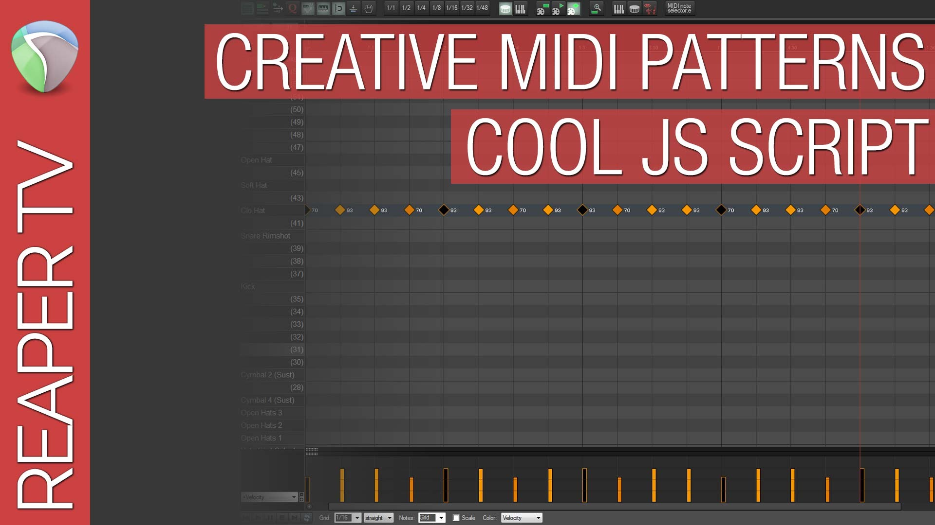 Reaper Tutorial: Quick Select Midi Patterns