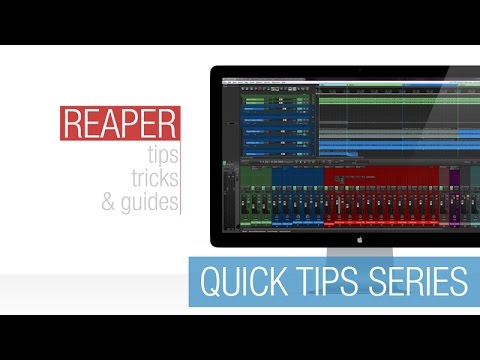 Reaper Quick Tips: Show / Hide Parent Tracks in MCP