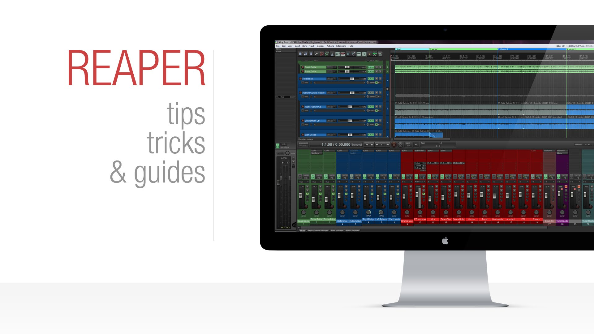 Reaper Tutorial: Creating Project Templates