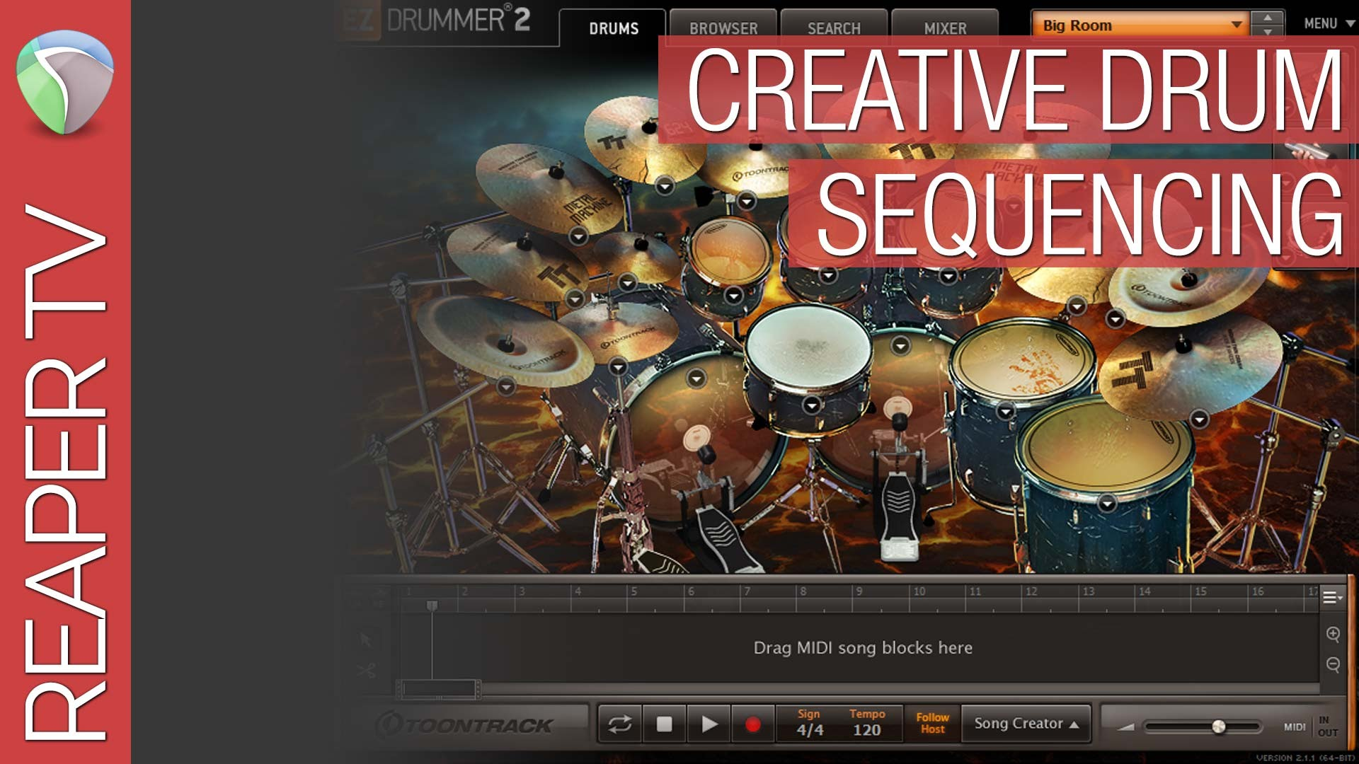 Creative Drum Sequencing with EZ Drummer 2 & Reaper 5