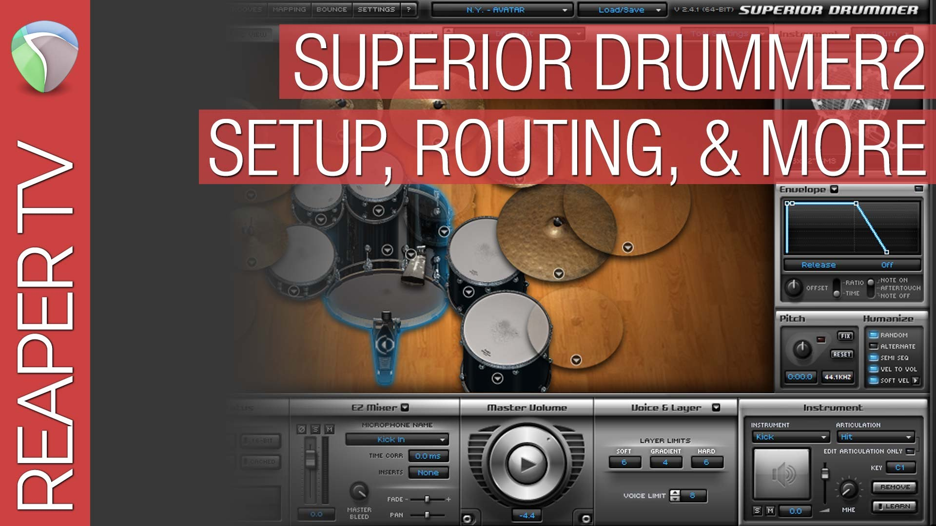 Configuring & Using Toontrack Superior Drummer 2 with Reaper 5