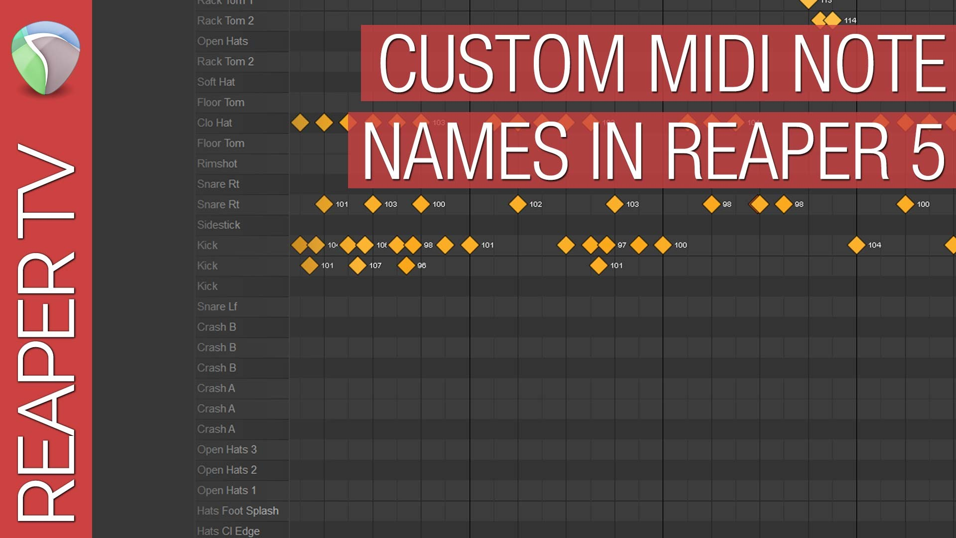 Naming Midi Drum Maps in Reaper DAW
