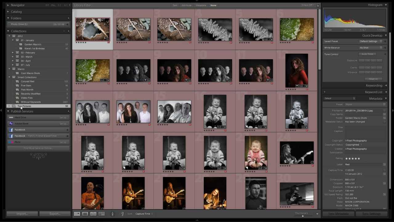 Quick Guide to Using Lightroom 4 Smart Collections
