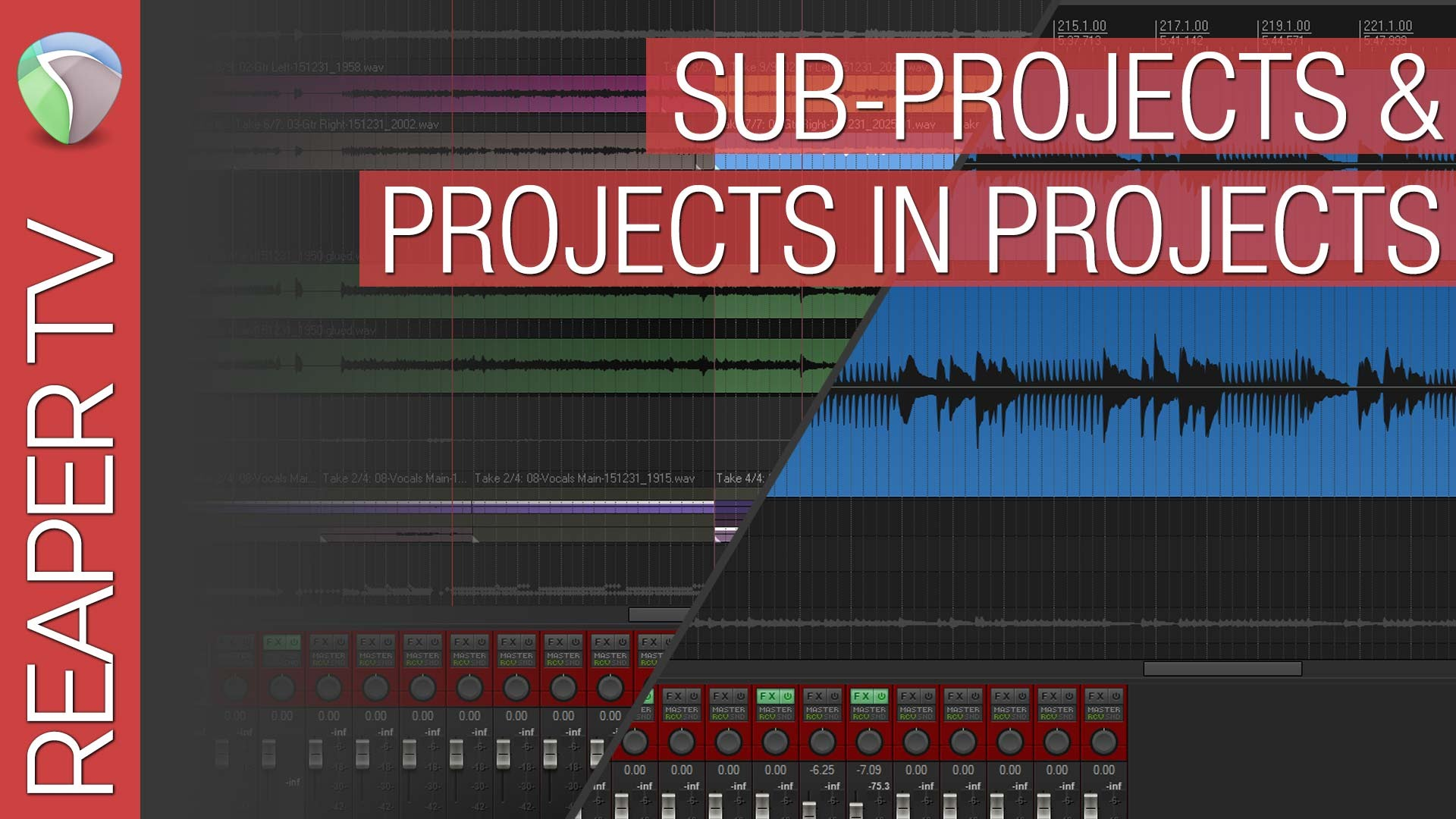 Reaper 5 Sub-Projects and Projects in Projects Tutorial