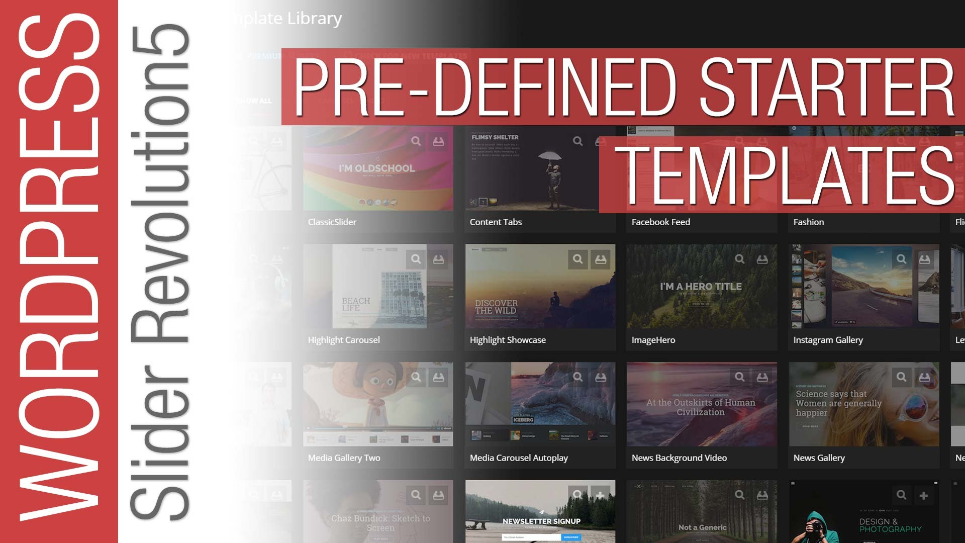 Slider Revolution 5 for WordPress – Pre-Defined templates