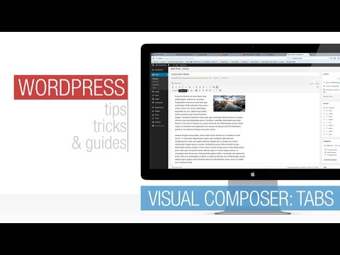 WordPress Tutorial: Visual Composer – Tabs
