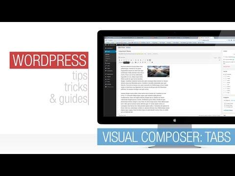 WordPress Tutorial: Visual Composer – Tabs