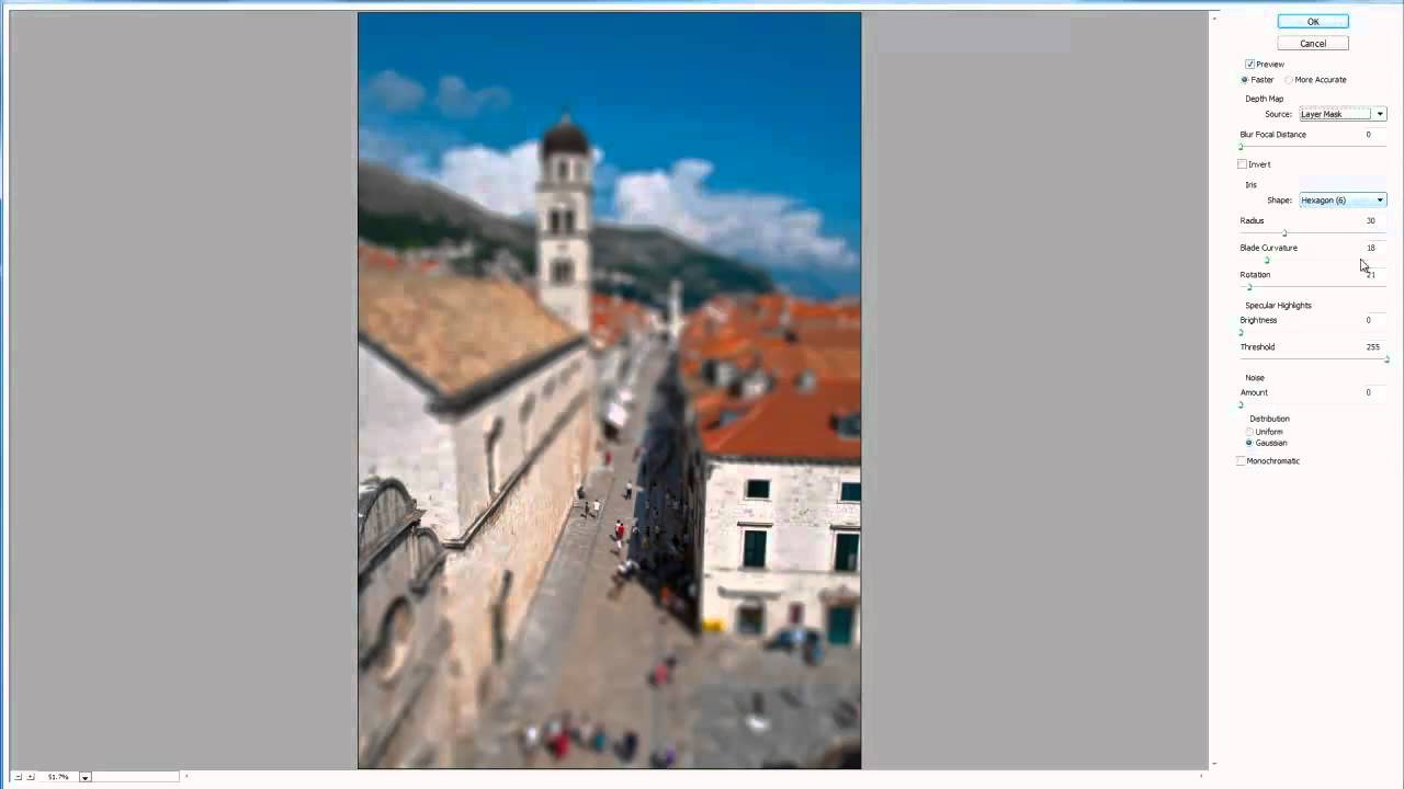 Tilt & Shift Lens Effect with Photoshop