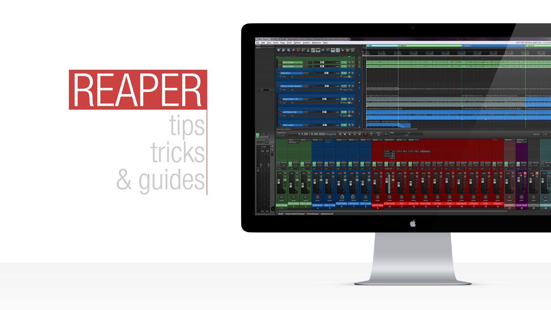 Reaper Tutorial: Creating Track Templates
