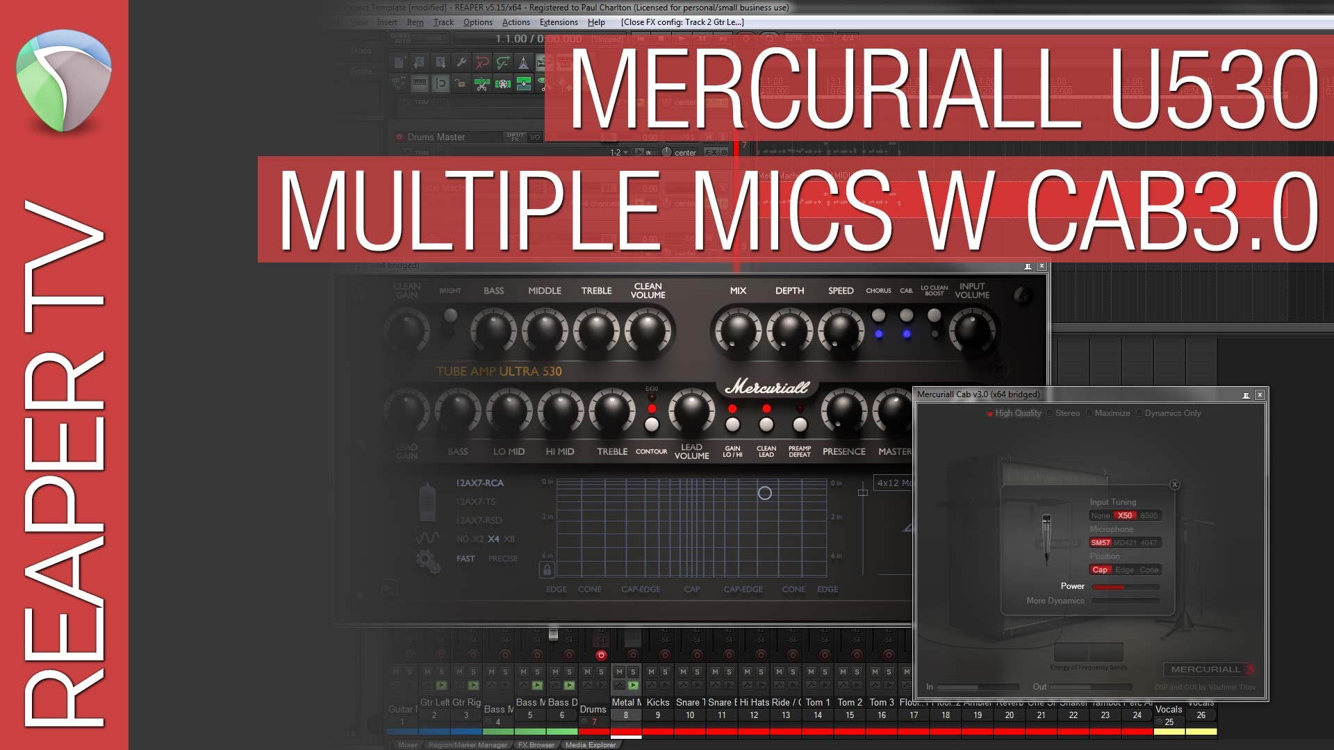 Expand Your Mic Options with Mercuriall Tube Amp Ultra 530 & Mercuriall Cab Loader