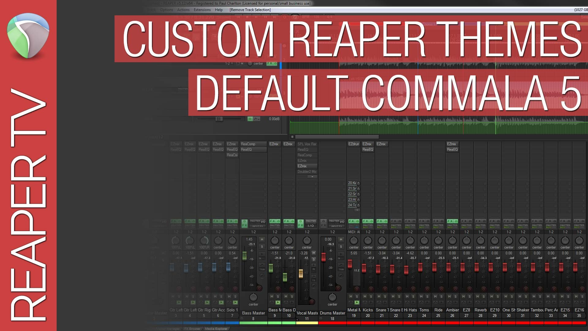 Reaper Themes for Beginners – Default Commala 5