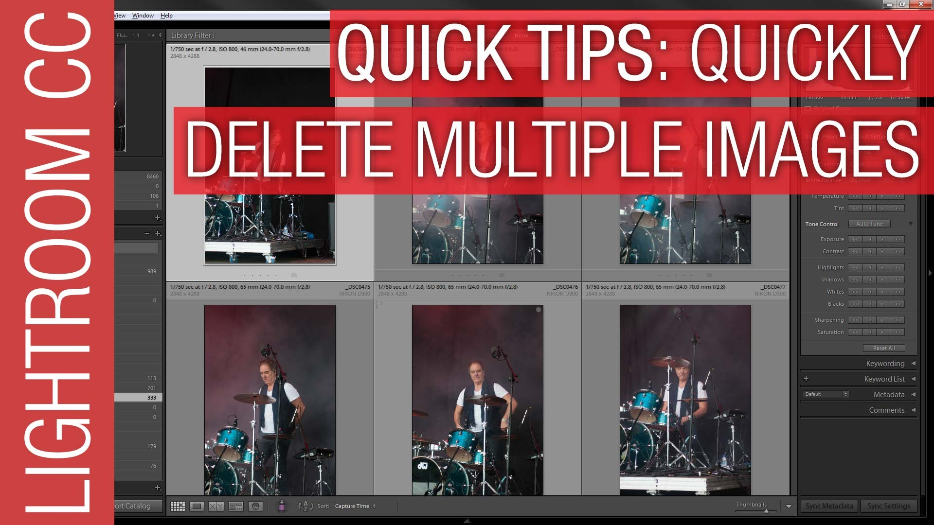How To Quickly Delete Multiple Photographs in Adobe Lightroom