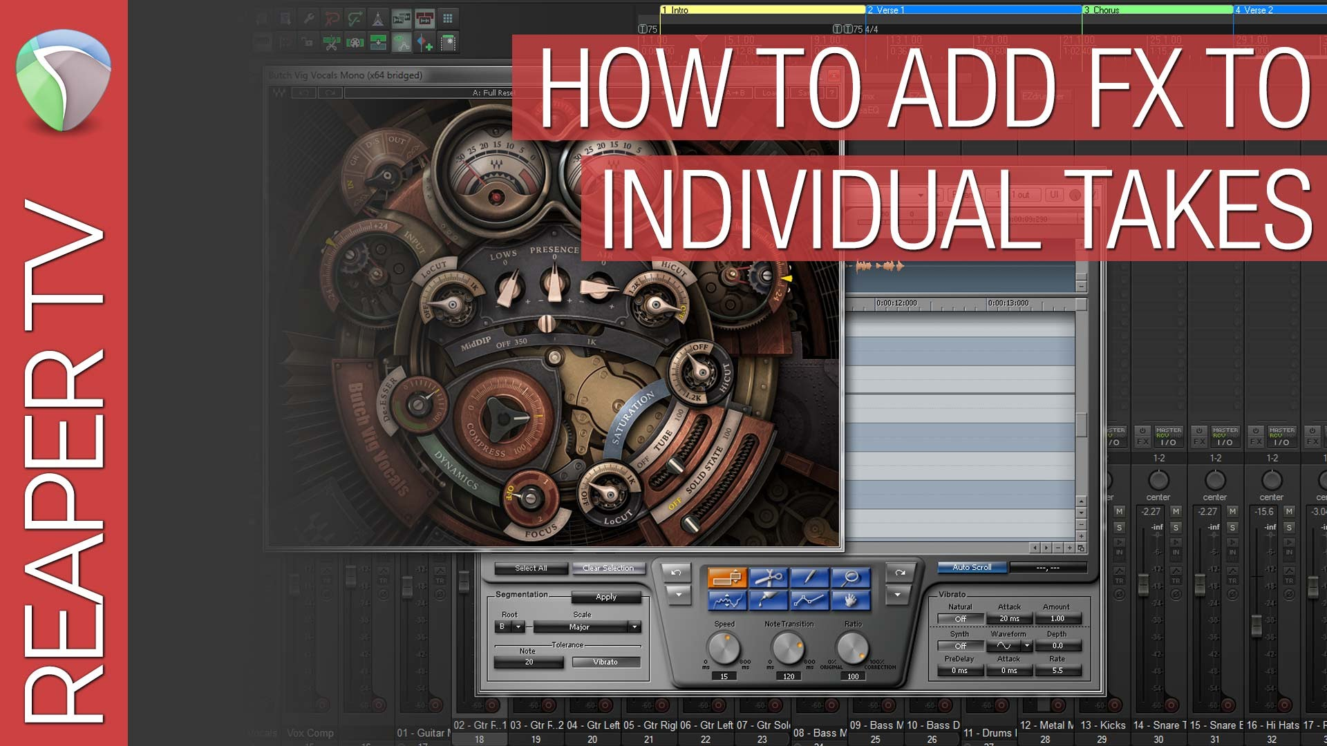 How to Add FX To Individual Takes in Reaper DAW