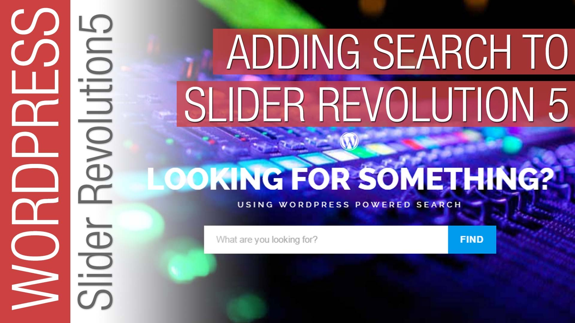 How To Add a Search Function to Slider Revolution 5 Slider