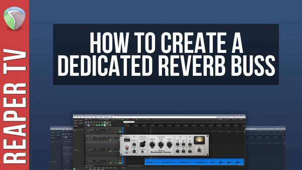 How To Create a Dedicated Reverb Buss in Reaper DAW