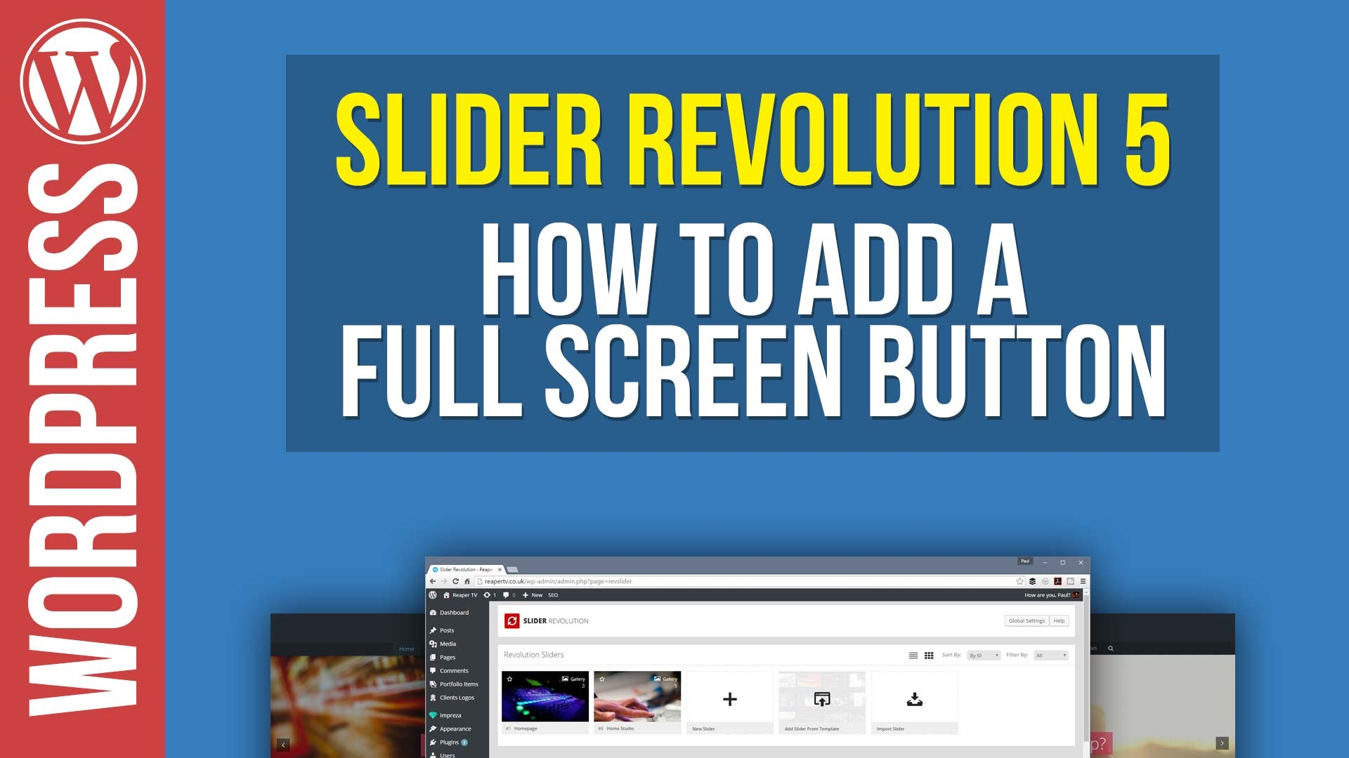 How To Make Your Slider Revolution Go Fullscreen