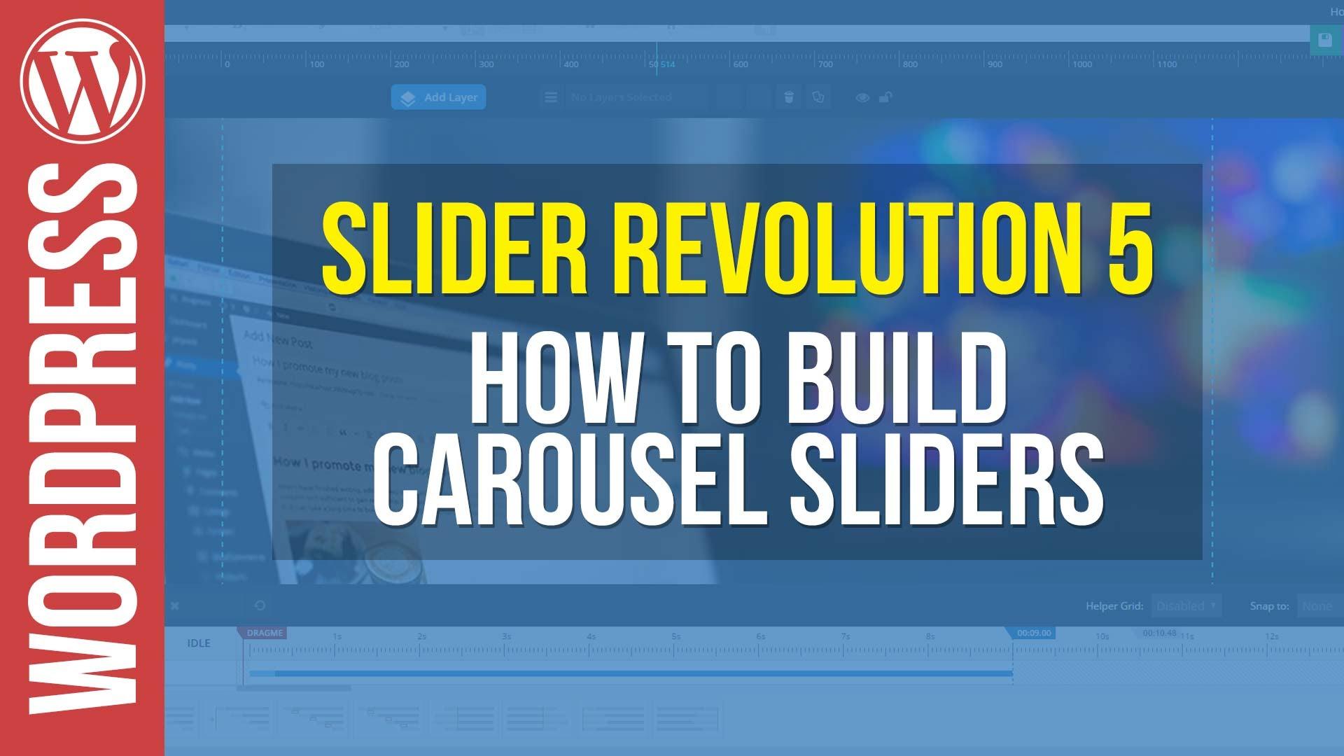 Slider Revolution 5 for WordPress – Carousel Slider Tutorial