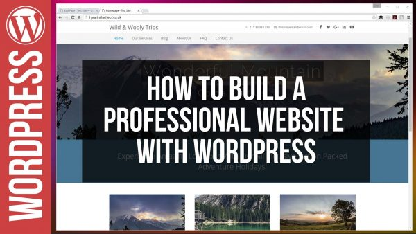 How To Build A Wordpress Website 2016
