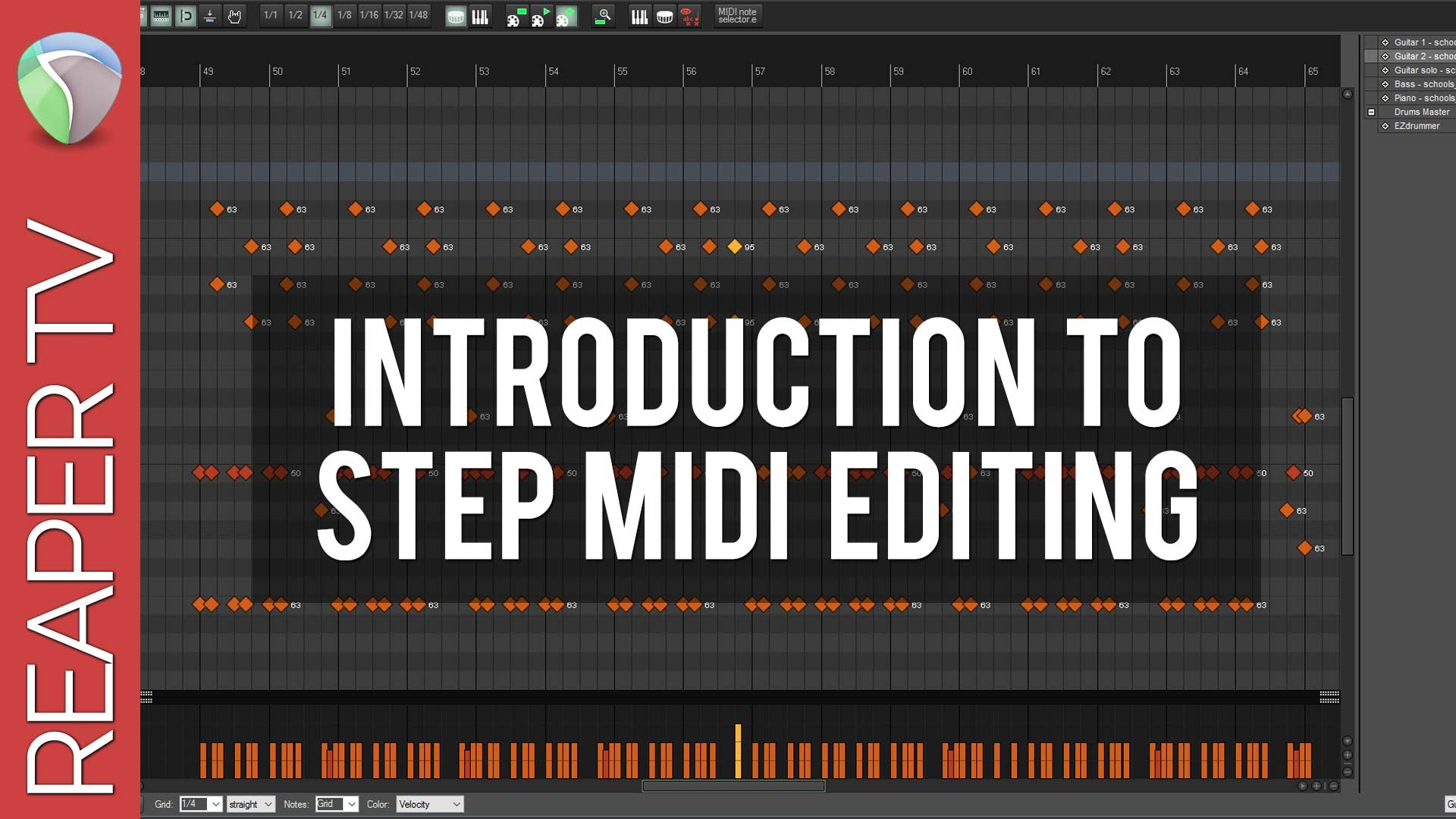 Midi Step Recording in Reaper DAW