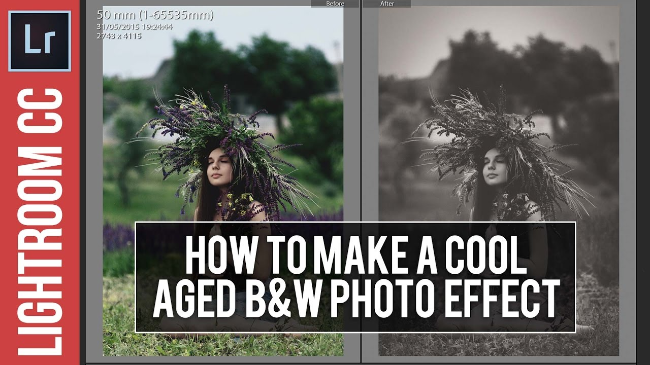 How To Create an Aged B&W Effect in Lightroom