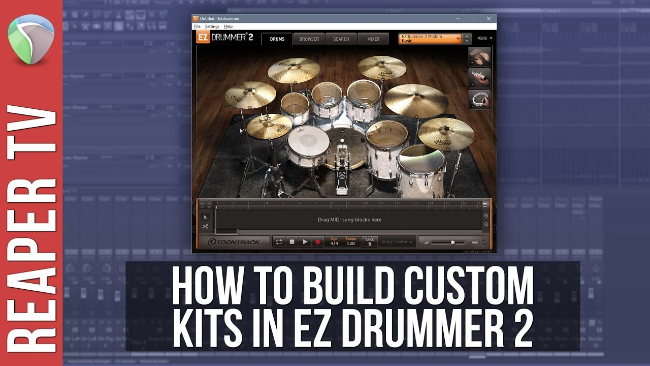 How To Make Custom Drum Kits in EZ Drummer 2