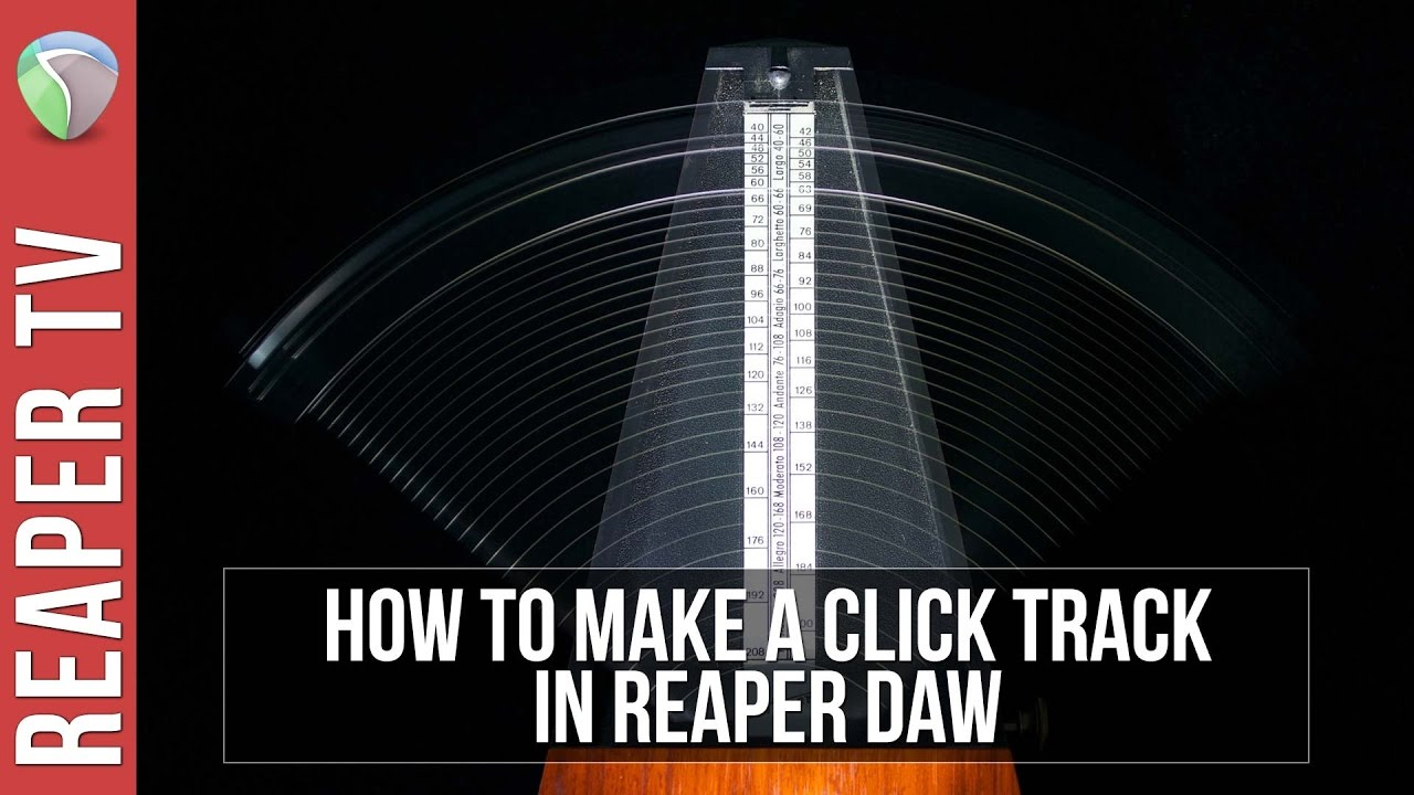 How To Make A Click Track in Reaper