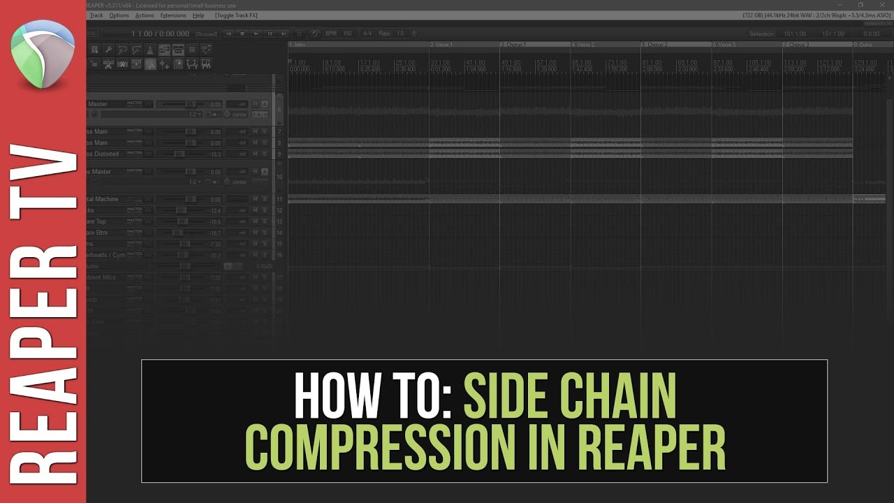 Sidechain Compression (Ducking) in Reaper – Tutorial