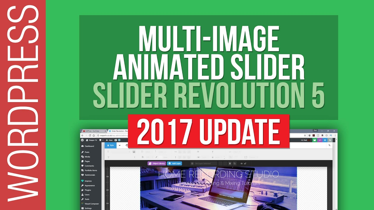 Slider Revolution 5 – Creating a Multi-Image Animated Slider 2017 Update