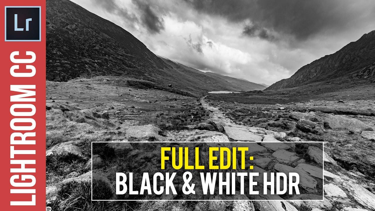 Lightroom CC / 6 / 5 Tutorial: HDR Black & White Landscapes