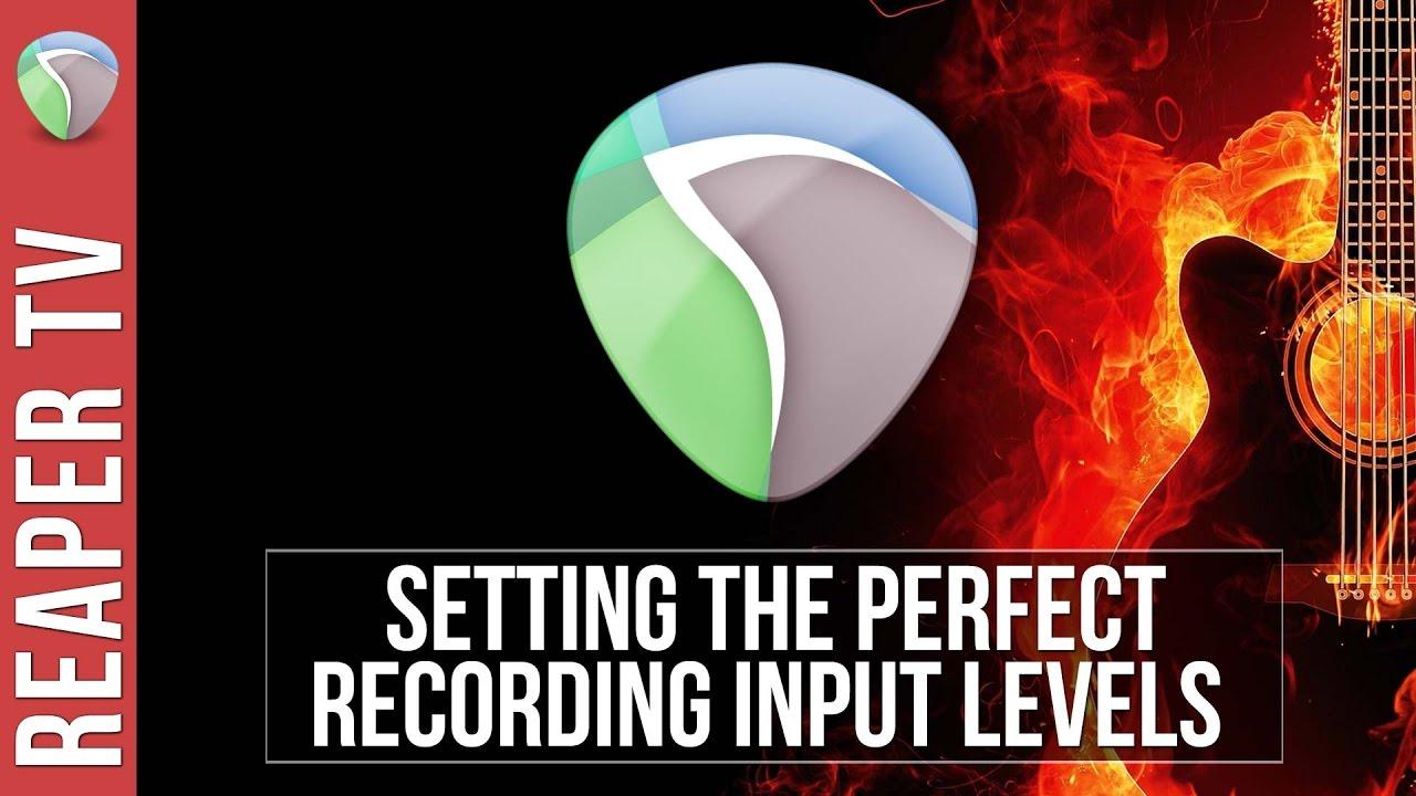 REAPER: Setting Optimal Recording Levels