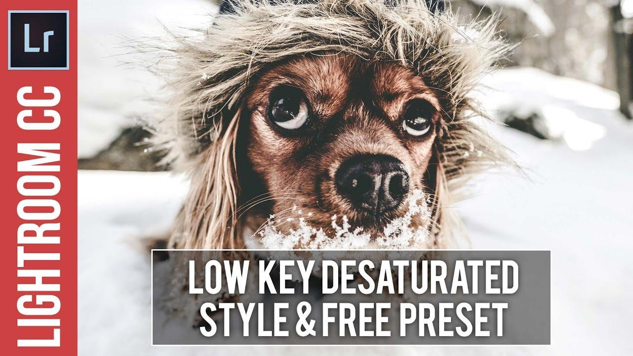 Lightroom: Low Key Desaturated High Contrast Style Tutorial & Preset
