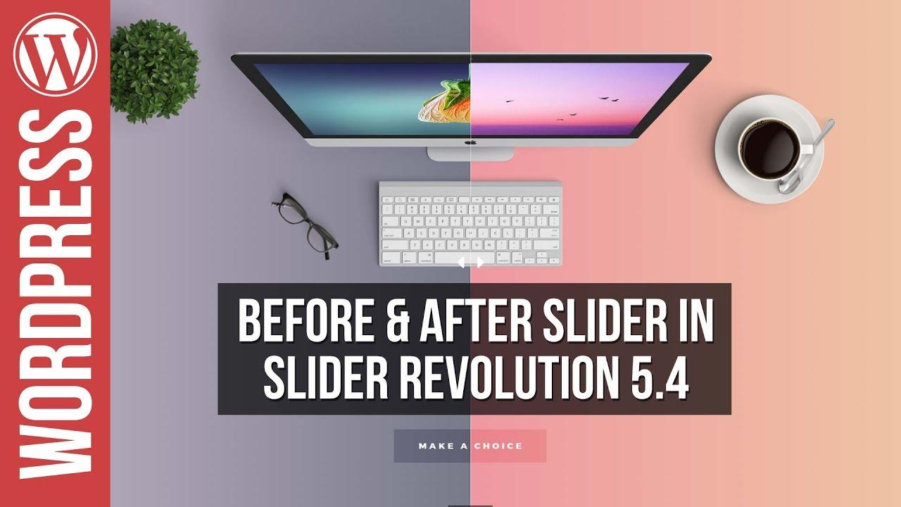 Slider Revolution 5: NEW Before & After Slider Tutorial
