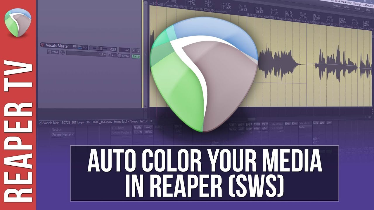 Reaper: Automatically Apply Color to Tracks, Markers & Regions