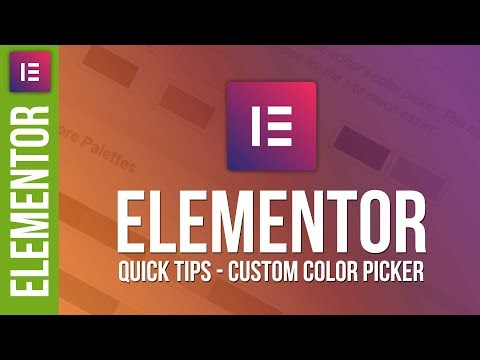 Master Your Color Palettes in Elementor for WordPress 😀