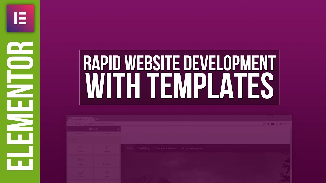Rapid Website Design with Elementor Templates