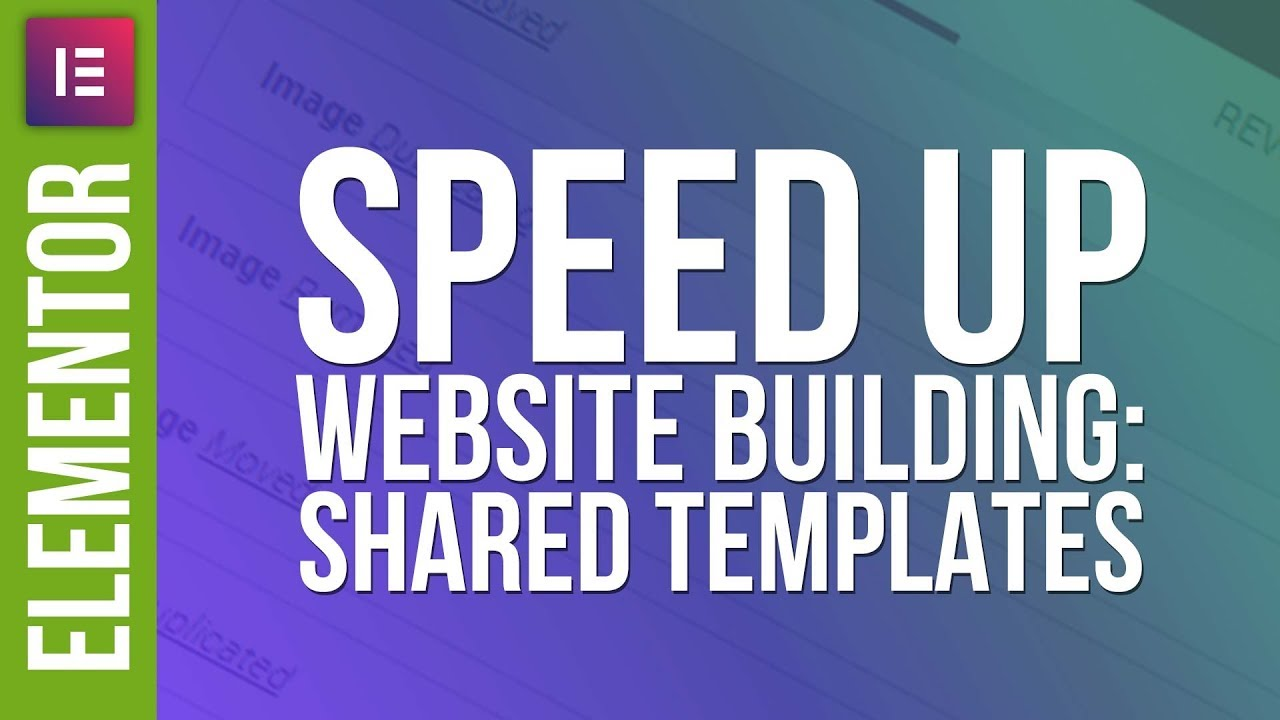 Faster Website Design: Shared Templates