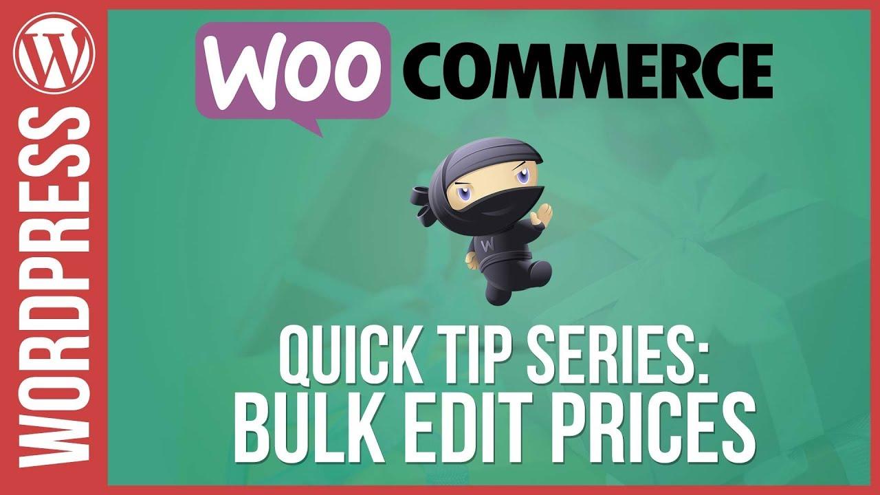 Woocommerce: Bulk Edit / Update Prices