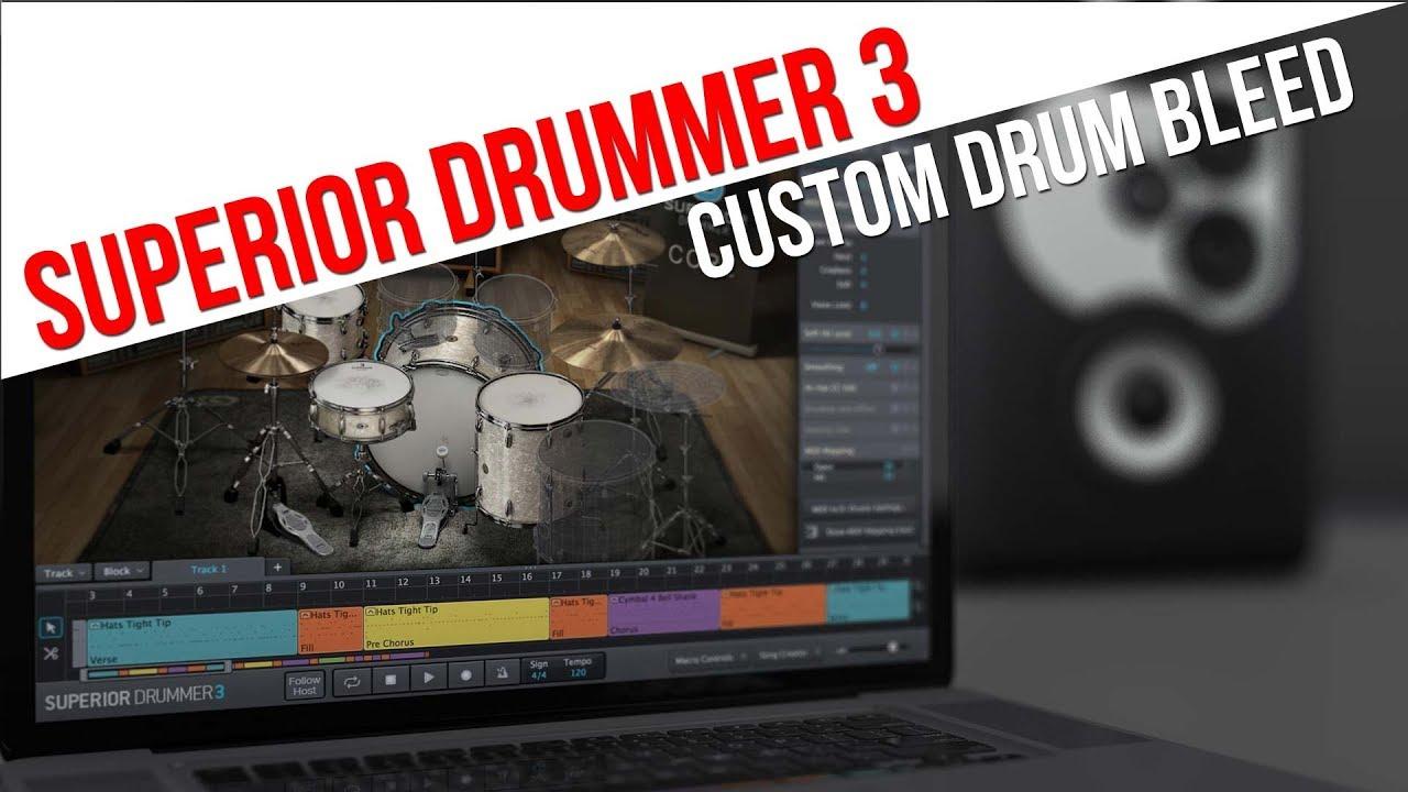 How To Program Drum Bleed in Superior Drummer 3