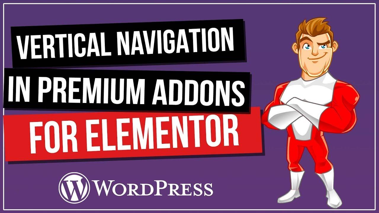 Elementor Vertical Navigation & Vertical Scrolling for FREE